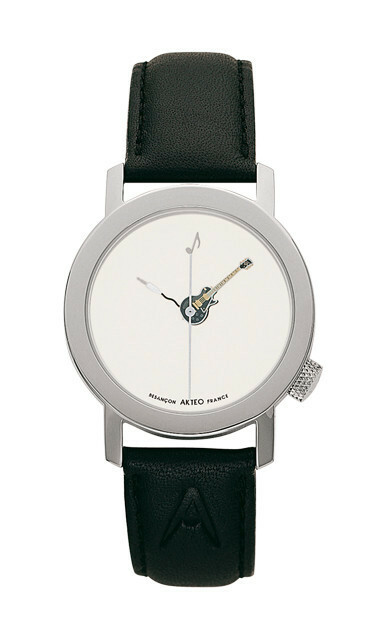 Akteo Horloge Gitaar Ebony